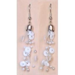 Boucles d oreilles blanches BO4102A