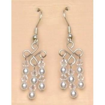 Boucles d oreilles mariage blanc cristal BO4220Z