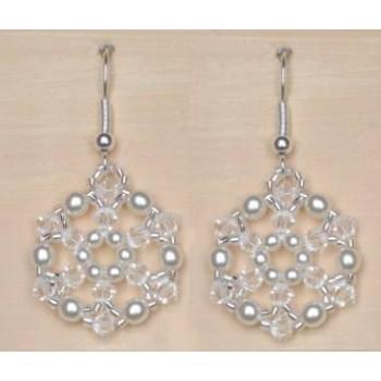 Boucles d oreilles mariage blanc et cristal BO4234Z