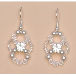 Boucles d oreilles blanc cristal strass BO4261Z