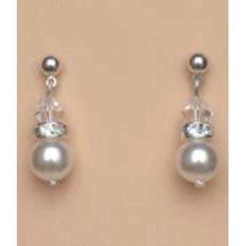 Boucles d oreilles blanc cristal strass BO4262A