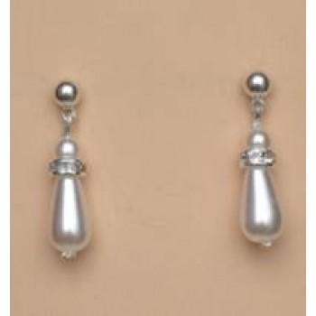 Boucles d oreilles blanc cristal et strass BO4262B