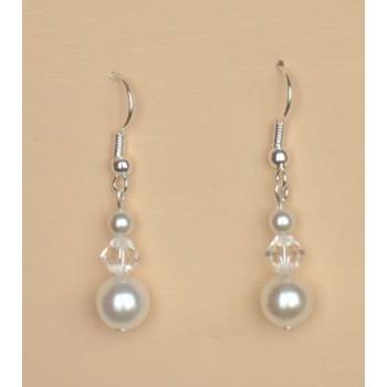 Boucles d oreilles mariage blanc cristal BO4270A