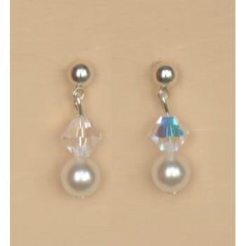Boucles d oreilles mariage blanc cristal BO4271A