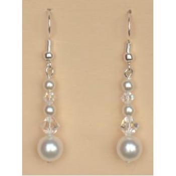 Boucles d oreilles mariage blanc cristal BO4271B