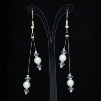 Boucles d'oreilles mariage blanc cristal BO1267A
