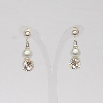 Boucles d'oreilles blanc strass BO1276A