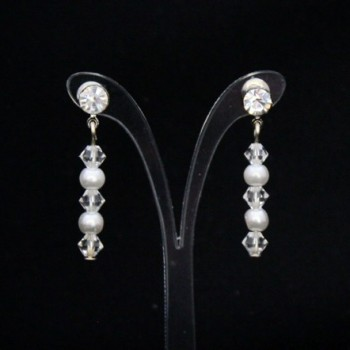 Boucles d'oreilles blanc cristal strass BO1275A