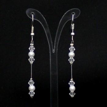 Boucles d'oreilles blanc cristal BO1273A