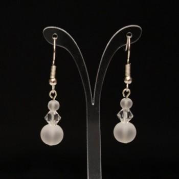 Boucles d'oreilles cristal de Swarovski et verre givré BO4290A