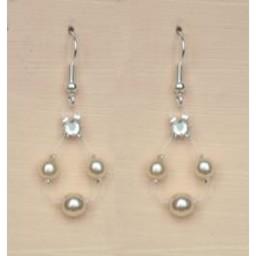 Boucles d'oreilles ivoire BO4280A