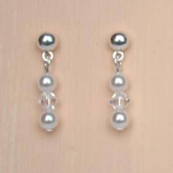 Boucles d'oreilles blanc cristal BO1253A