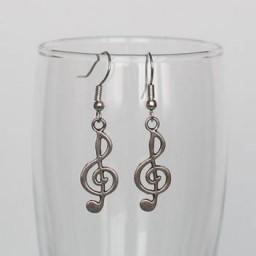 Boucles d'oreilles clé de sol BO332