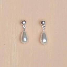 Boucles d'oreilles gouttes blanches BO1254A