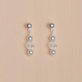 Boucles d'oreilles blanc cristal BO1254B