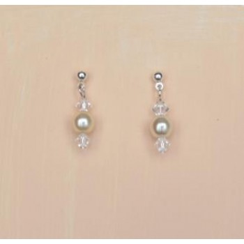 Boucles d'oreilles ivoire cristal BO1247B