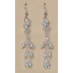 Boucles d'oreilles blanc cristal BO1240A
