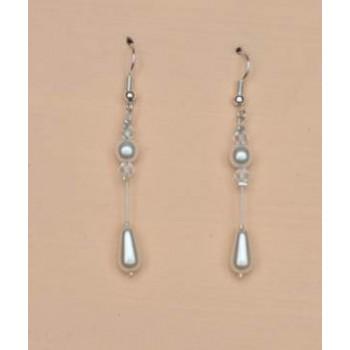 Boucles d oreilles blanc cristal BO1221A