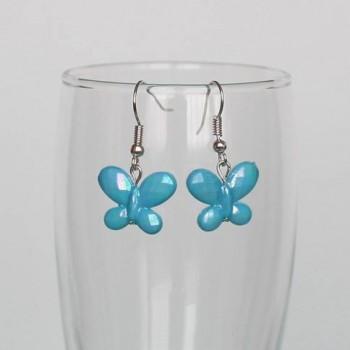 Boucles d'oreilles papillon turquoise BO334