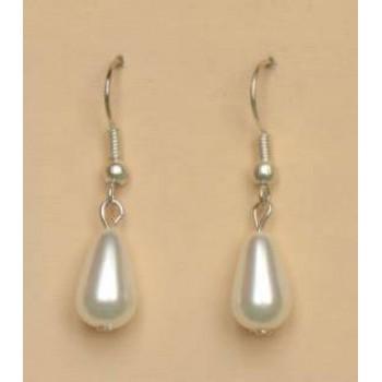 Boucles d oreilles blanches BO1138B