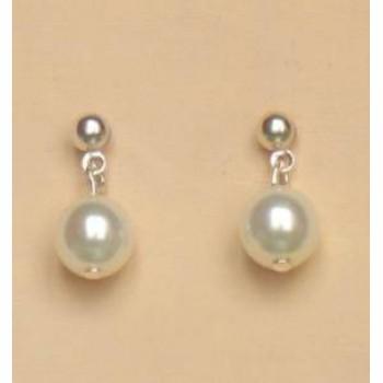 Boucles d oreilles blanches BO1138D