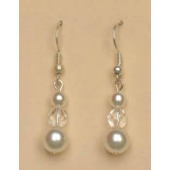 Boucles d oreilles blanc cristal BO1138C