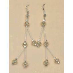 Boucles d oreilles ivoire BO1156A