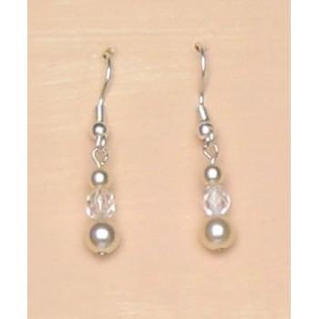 Boucles d oreilles ivoire cristal BO1142Z