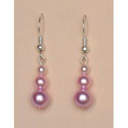 Boucles d oreilles rose BO1153A