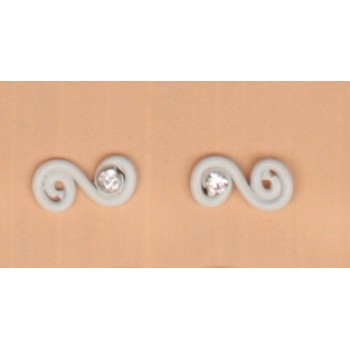 Boucles d oreilles aluminium blanc BOA200B