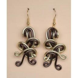 Boucles d oreilles chocolat et or clair BOA275