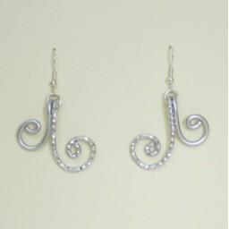 Boucles d'oreilles aluminium argentées BOA353