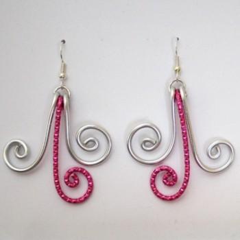 Boucles d'oreilles argent fuchsia BOA351B