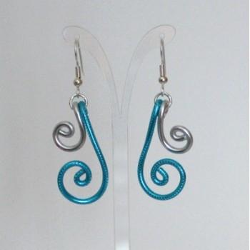 Boucles d'oreilles argent et turquoise BOA350