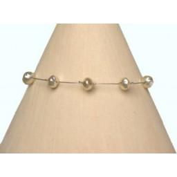 Bracelet perles ivoire BR1156B