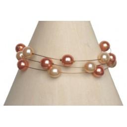 Bracelet perles pêche et corail BR1161A