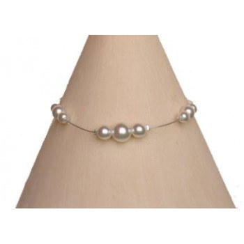 Bracelet perles blanches BR1162A