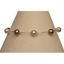 Bracelet perles ivoire et cappuccino BR1164A