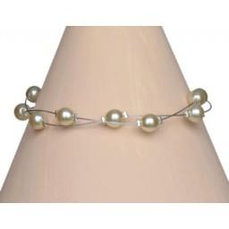 Bracelet perles ivoire BR1183A