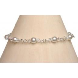 Bracelet mariage blanc et cristal BR2037Z