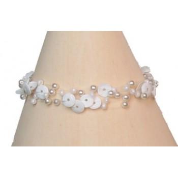 Bracelet fantaisie blanc BR4102A
