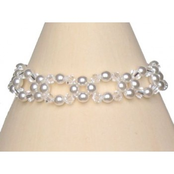 Bracelet mariage blanc et cristal BR4220Z