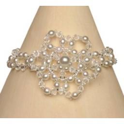 Bracelet mariage blanc et cristal BR4234Z