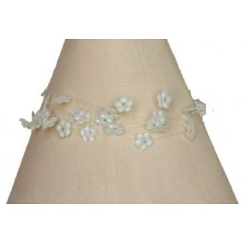 Bracelet fantaisie fleurs ivoire BR4236A