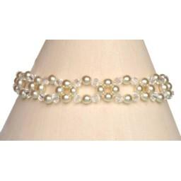 Bracelet mariage ivoire et cristal BR4249Z