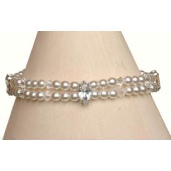 Bracelet mariage blanc cristal et strass BR4253Z
