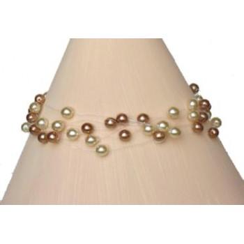 Bracelet perles ivoire et cappuccino BR4259Z