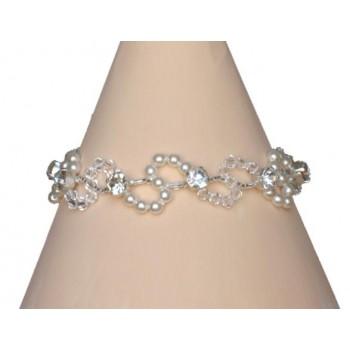 Bracelet mariage blanc cristal et strass BR4261Z