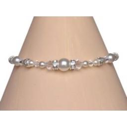Bracelet mariage blanc cristal et strass BR4262Z