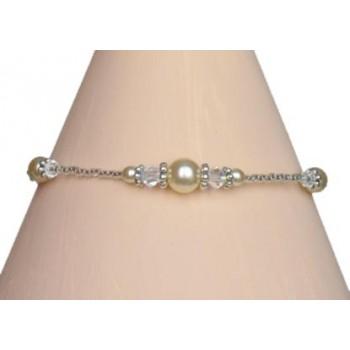 Bracelet mariage ivoire et cristal BR4263A